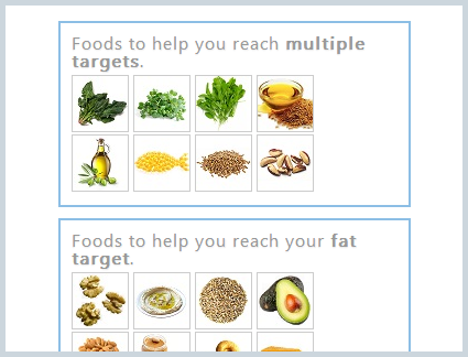 foods by nutrients to help you reach your nutrition targets
